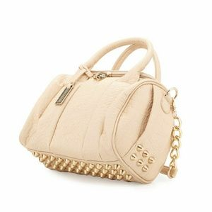 Urban Originals studded satchel bag nude gold
